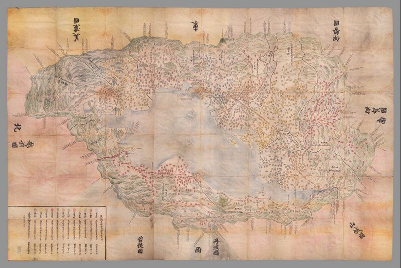 1837 Omi Kuni-ezu (Branner Earth Science Library & Map Collections, Stanford University)
